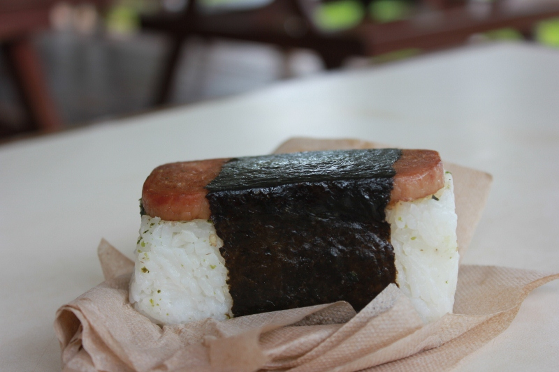 Hawaiian Spam Musubi in Maui