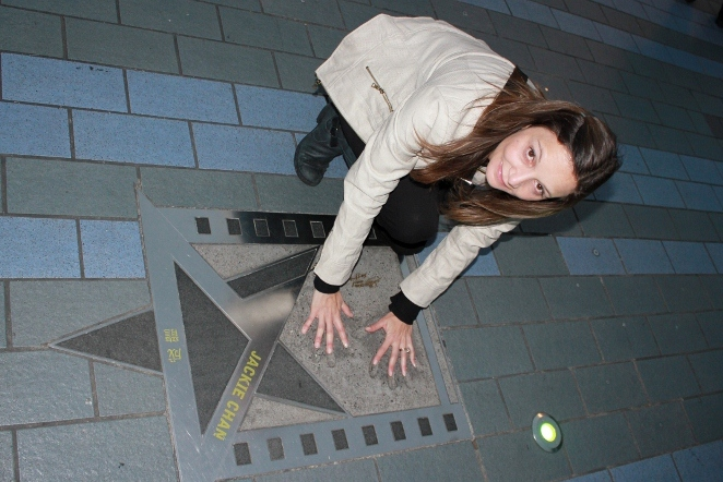 Annette White at Avenue of Stars - travel pictures