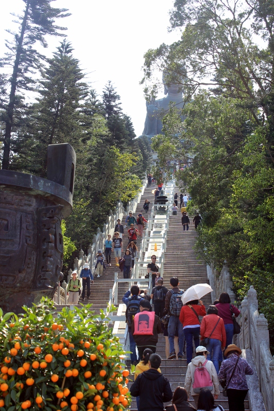 The Stairs to Big Buddha
