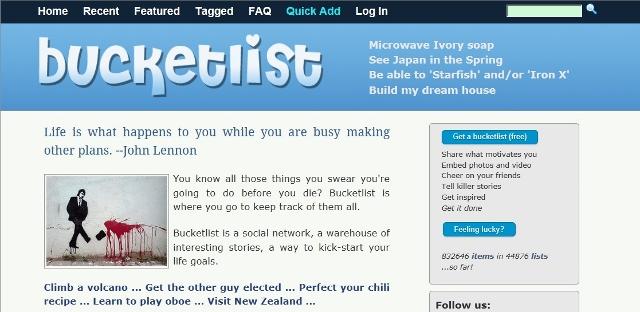 bucket list image