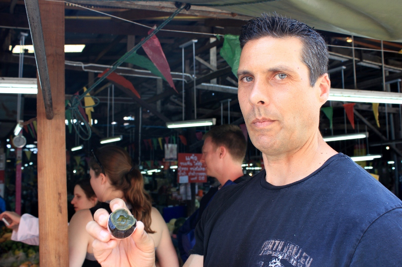 Peter Eating a Century Egg