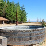 Hot Tub in a Wine Barrel at a Winery in Chile