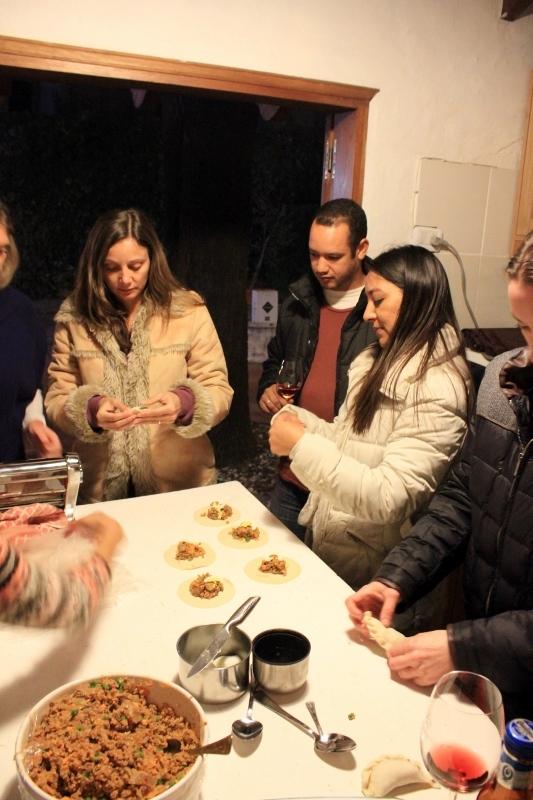 making empanadas in Argentina