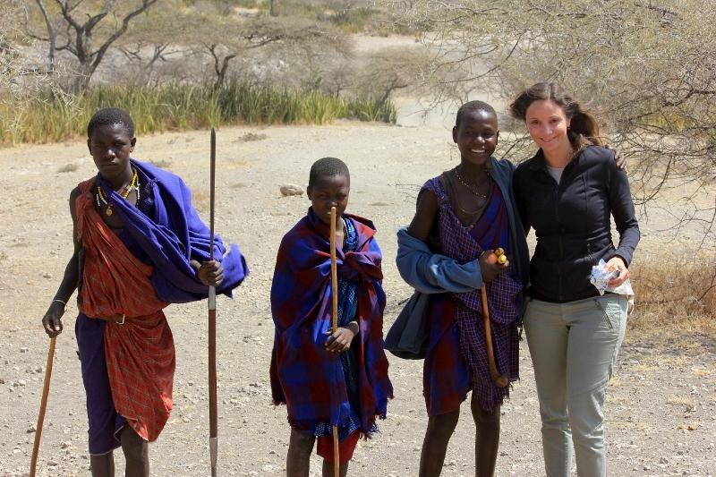 Maasai on Safari
