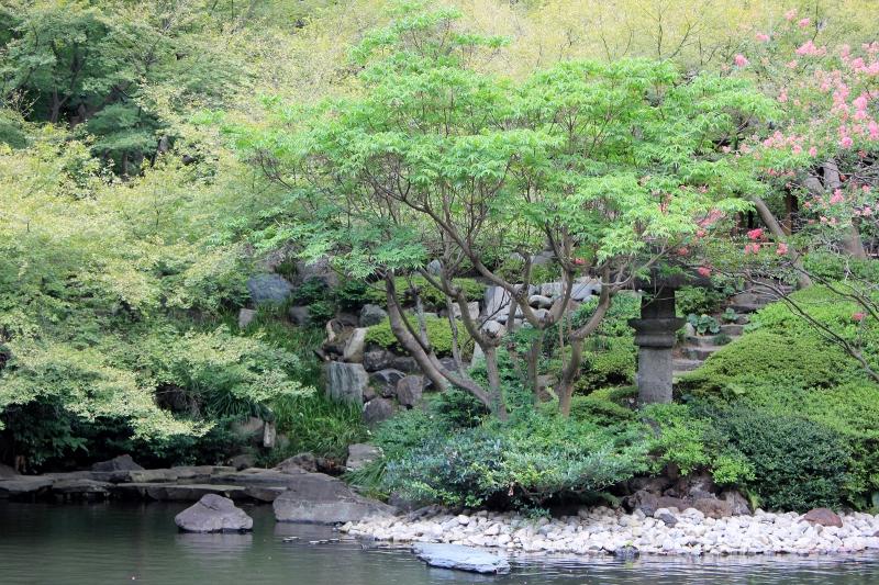 Happo-en Gardens in Tokyo Japan