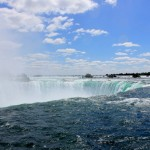 Stand Behind Niagara Falls on the Canada Side