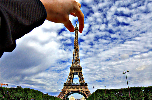 Pinching the Eiffel Tower