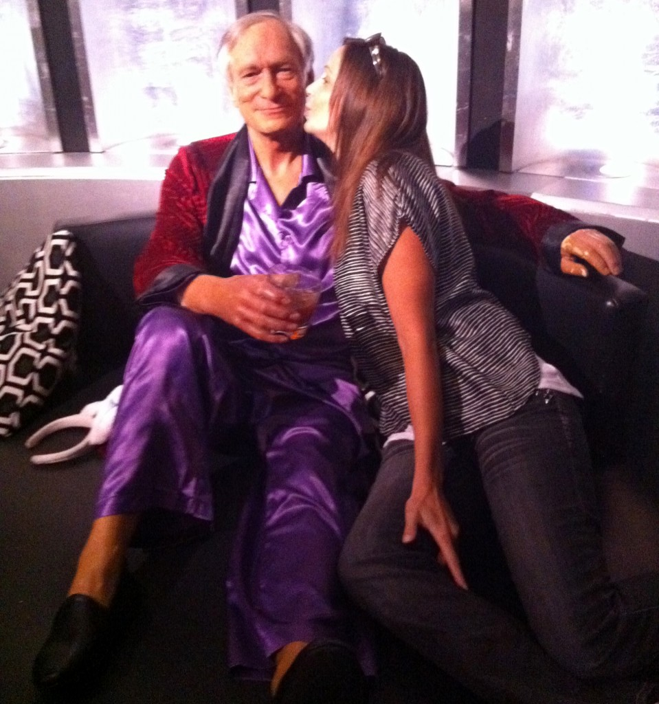 Annette White & Hugh Hefner at Wax Museum