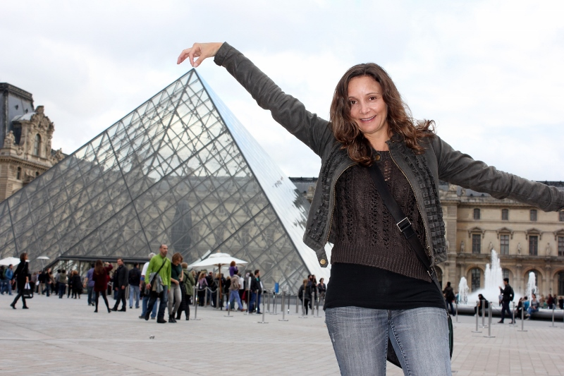 Touching the Louvre in Paris