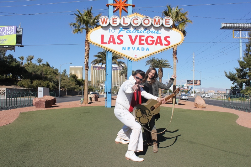 Photo Standing Under Las Vegas Sign - Annette White