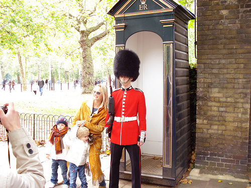 Posing with a London Royal Guard