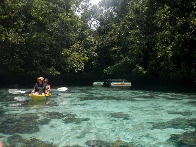 Kayak in Palau Island, Micronesian Country