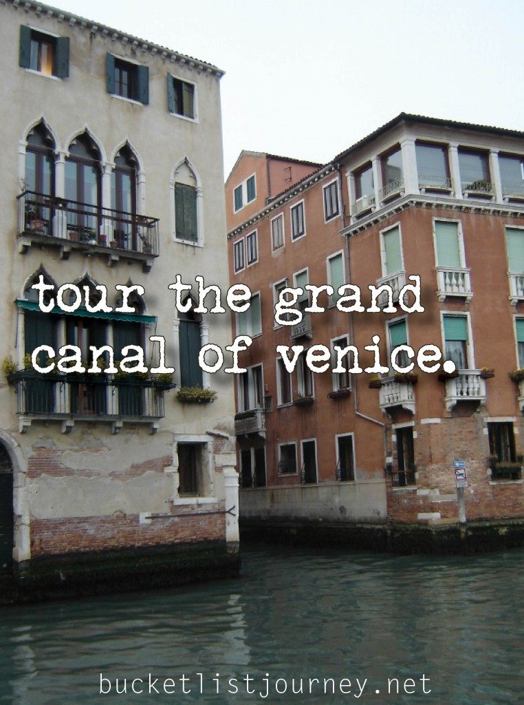 Bucket List Snapshot Grand Canal, Venice