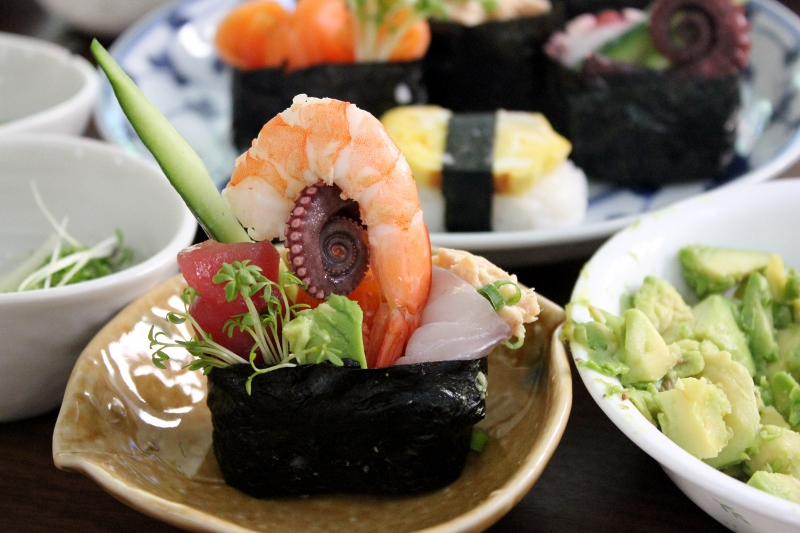 Sushi making in Tokyo