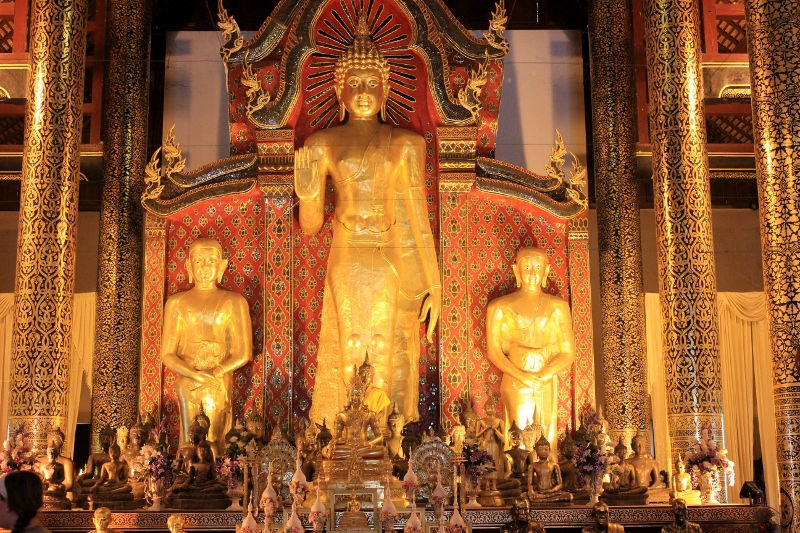 Interior of the Wat Chedi Luang Chiang Mai