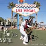 Take a Photo Standing Under the Las Vegas Sign. Snapshot.