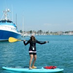 Learn to Paddle Board. Oxnard Channel Islands Harbor, California.