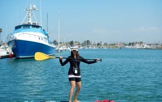 Annette White Paddle Boarding Oxnard Channel Islands