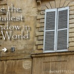 See the World's Smallest Window in Siena, Italy. Snapshot.