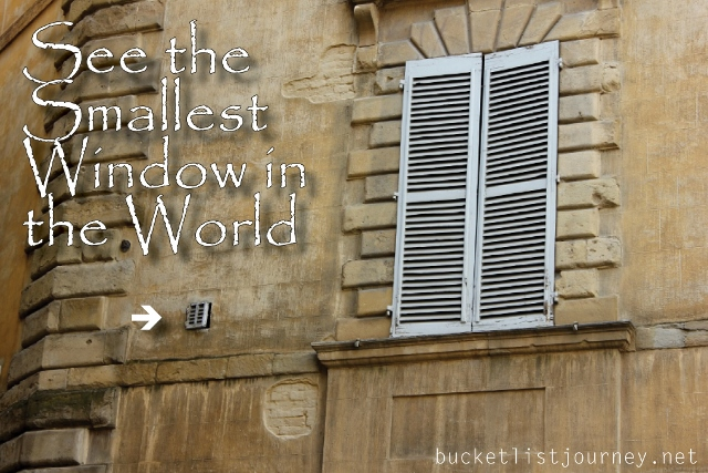 Smallest Window in the World, Siena, Italy