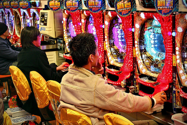 Pachinko Parlor in Tokyo, Japan