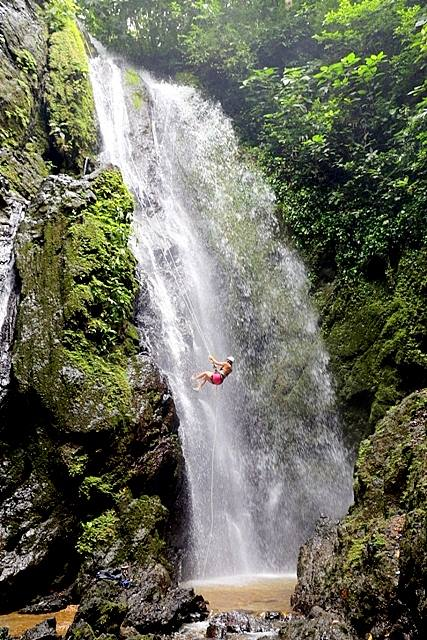Rappel a Waterfall in Costa Rica