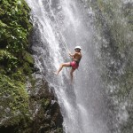 Rappel Down a Waterfall. Osa Peninsula, Costa Rica