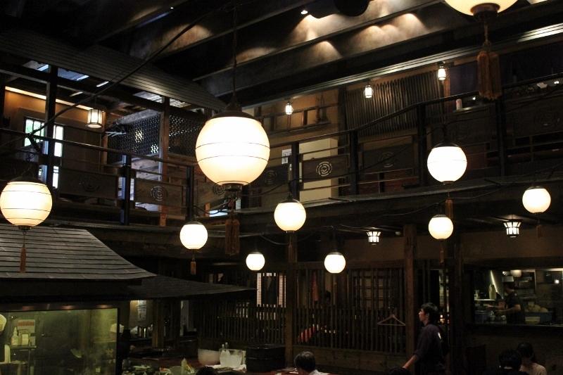 Lanterns at Kill Bill Gonpachi in Tokyo