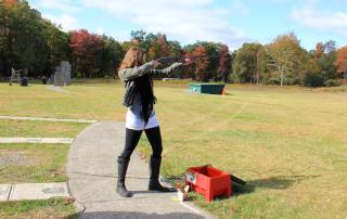 Annette Skeet Shooting in Pocono Mountains, Pennstlvania