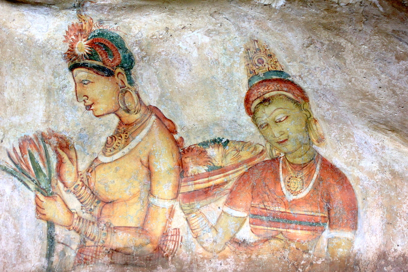 Sigiriya Frescoes Sri Lanka