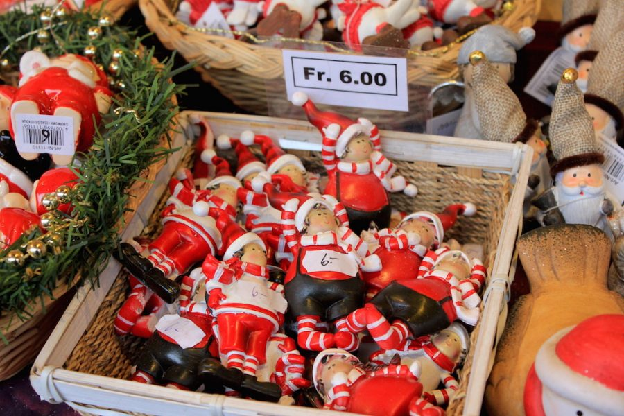 Ornaments at the Basel Switzerland Christmas Market