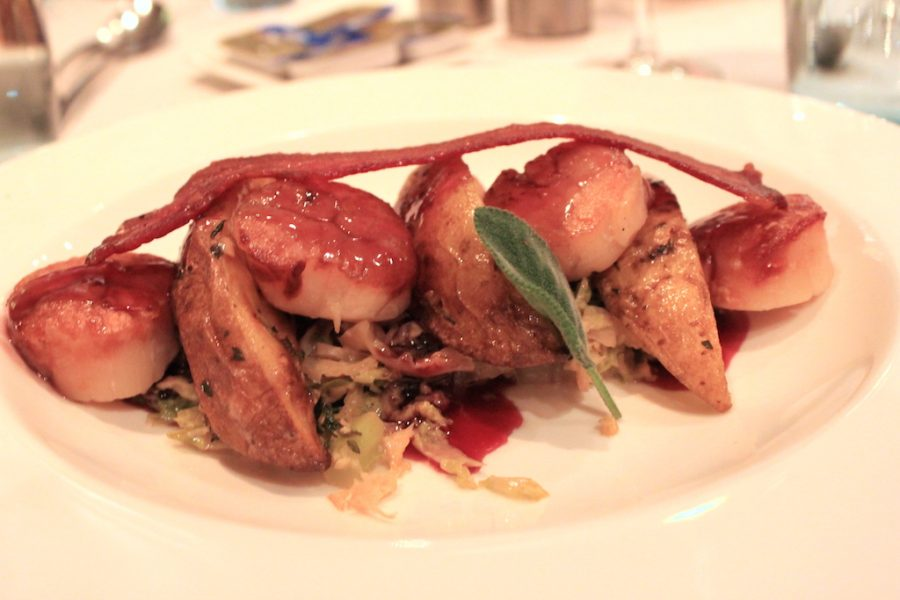 Scallop Dinner on the Viking Rhine River Cruise