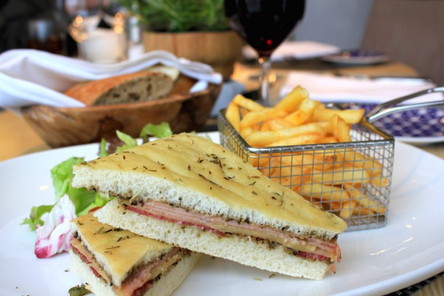 Muffaletta sandwich on the Viking Rhine River Cruise