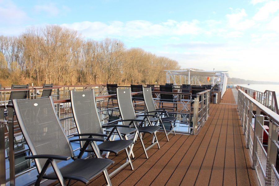 The sundeck of the Viking Tor ship