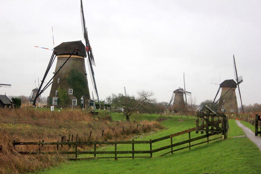 The Kinderdijk windmills in the Netherlands