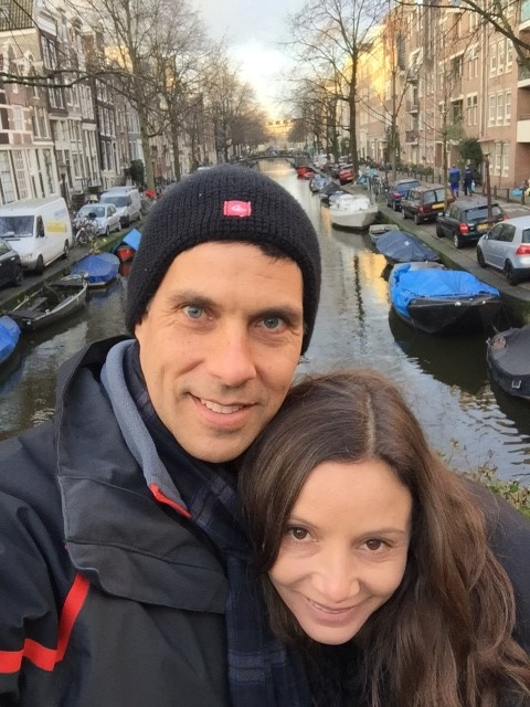 Annette White in Amsterdam canals