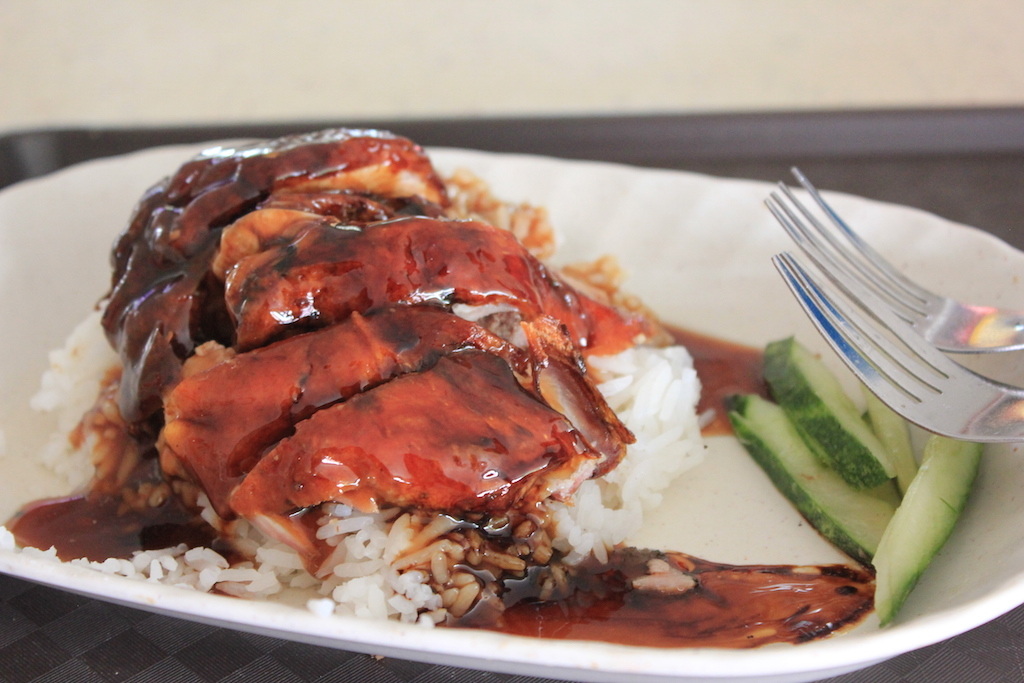 Glazed Duck at a Hawker Center in Singapore