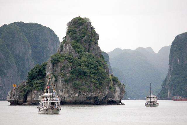 Boats on Ha Long Bay Vietnam