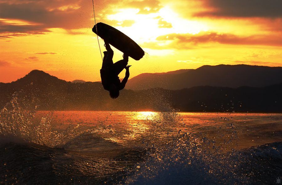 Wakeboarding at Sunrise