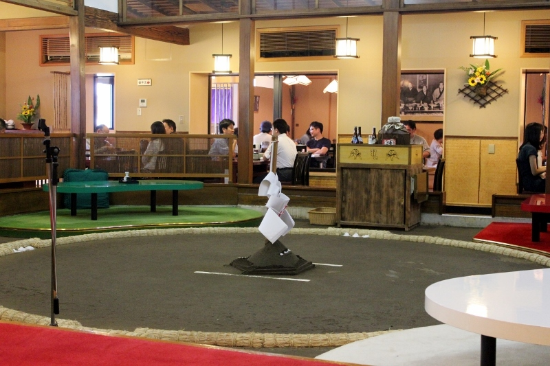 Chankonabe Restaurant in Tokyo with a Sumo Wrestling Ring