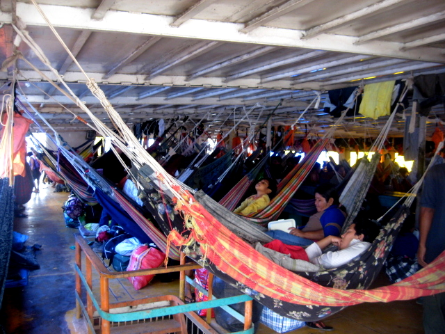 Hammocks on the Boat of the Peruvian Amazon