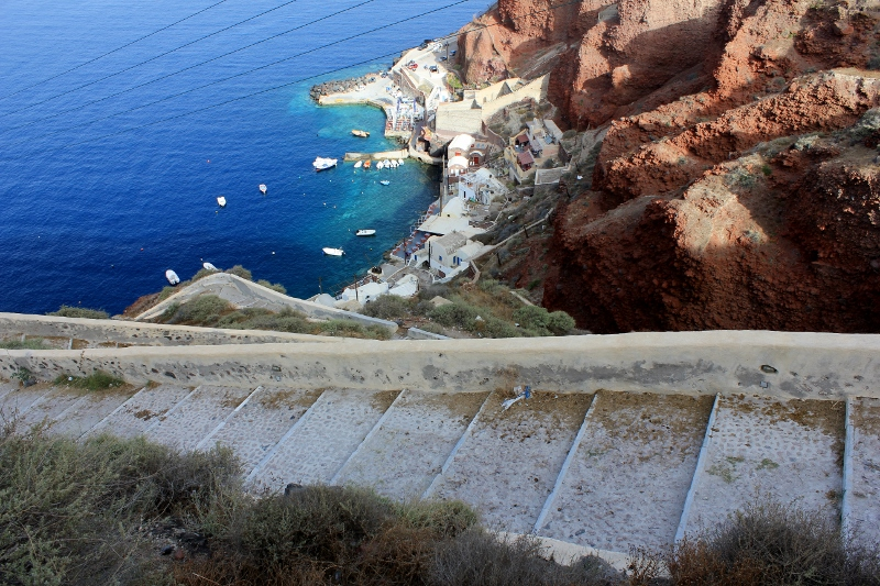 Ammoudi Stairs to Santorini