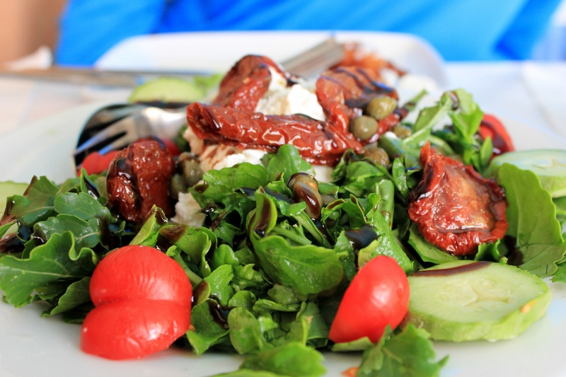 Eat a Santorini Salad in Greece