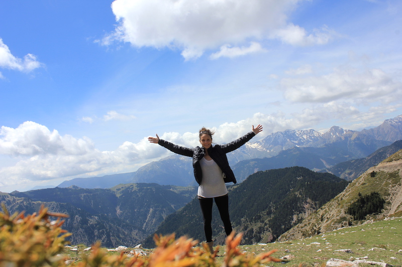 Annette White on Niala Summit in Greece