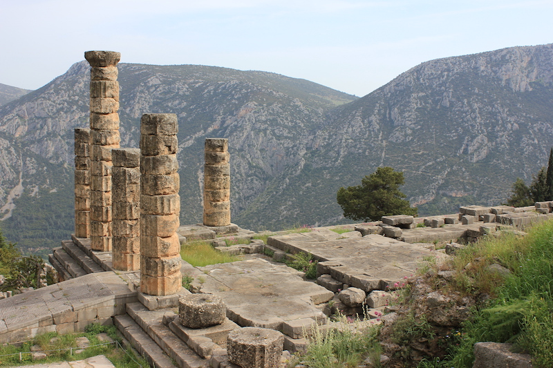 Temple of Apollo at Delphi in central Greece