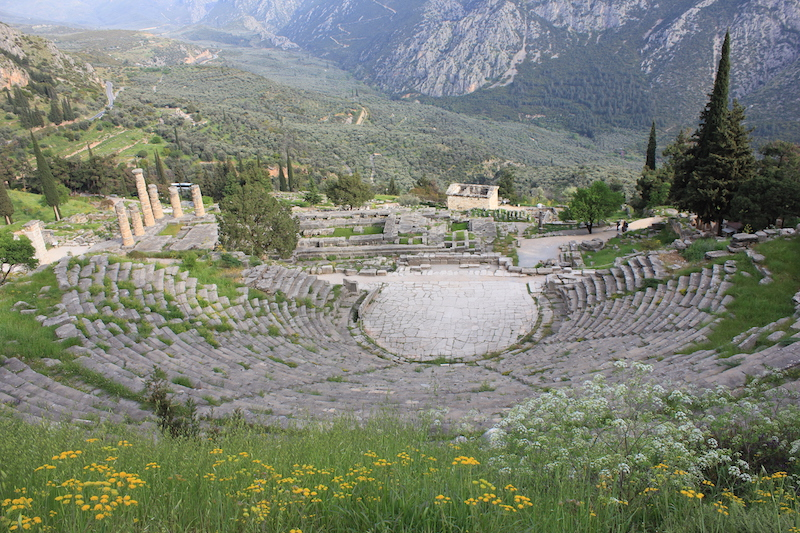 The Theater at Delphi in central Greece
