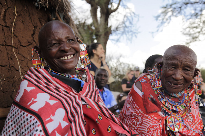 Maasai People on a Trek in Tanzania