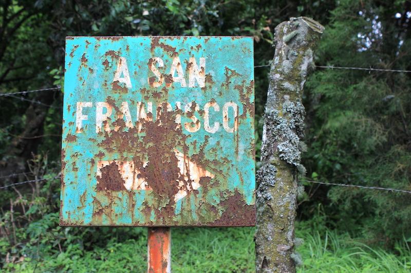 San Francisco Sign at Pacaya Volcano Guatemala