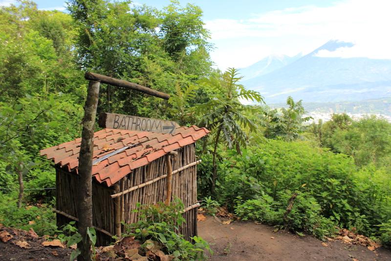 Bathroom at Pacaya Volcano Guatemala