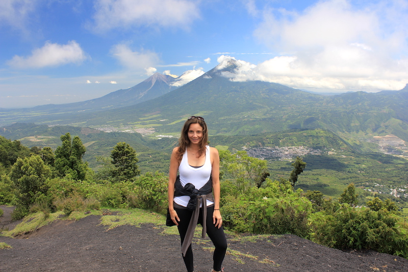Annette White Hiking Pacaya Volcano in Guatemala